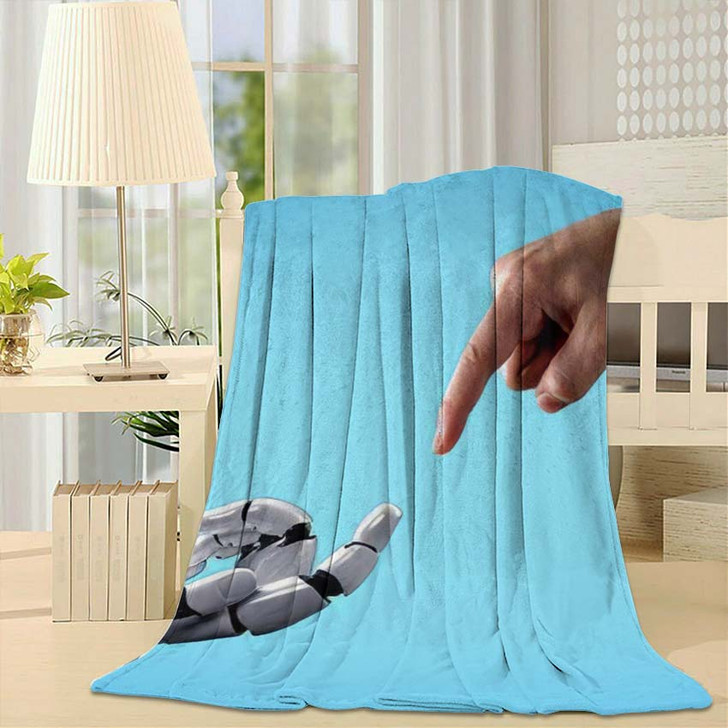 3D Rendering Artificial Intelligence Ai Research 40 - Creation of Adam Throw Blanket