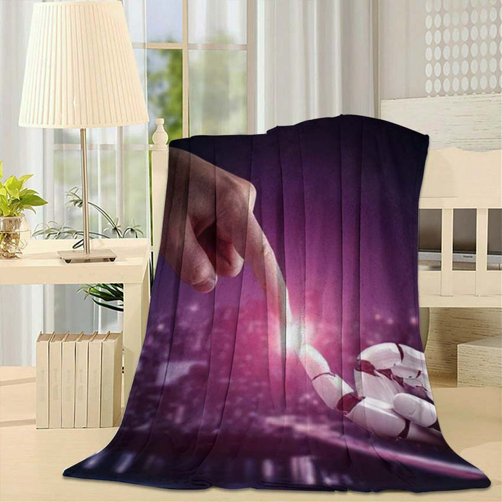 3D Rendering Artificial Intelligence Ai Research 43 - Creation of Adam Throw Blanket
