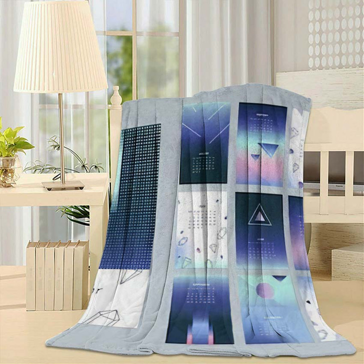 2018 Calendar Concept Vector Design Print - Galaxy Sky and Space Throw Blanket