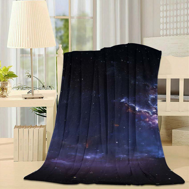 360 Degree Space Nebula Panorama Equirectangular 1 - Galaxy Sky and Space Throw Blanket