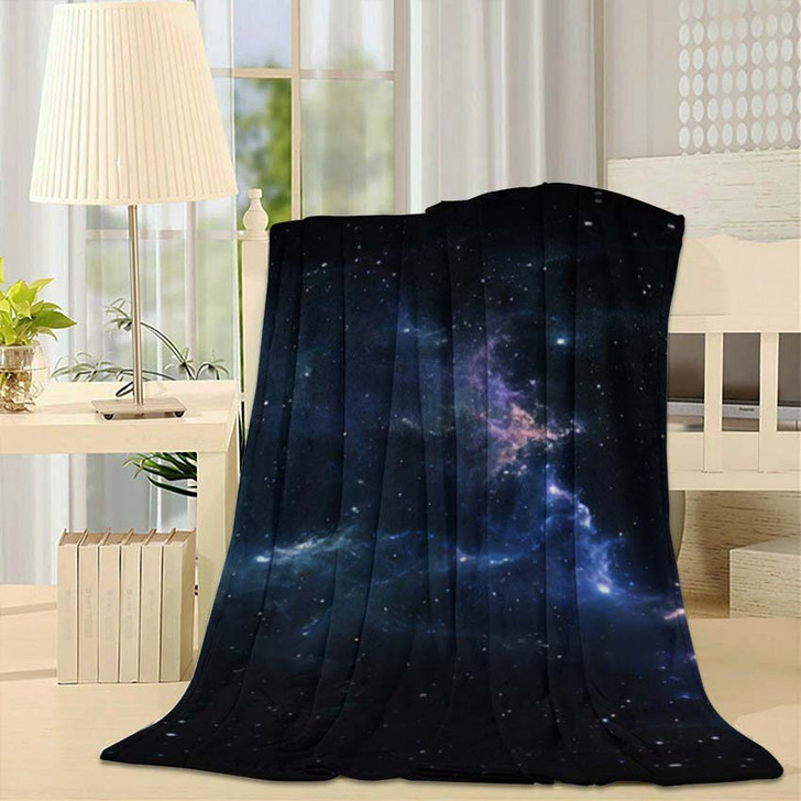 360 Degree Space Nebula Panorama Equirectangular 6 - Galaxy Sky and Space Throw Blanket