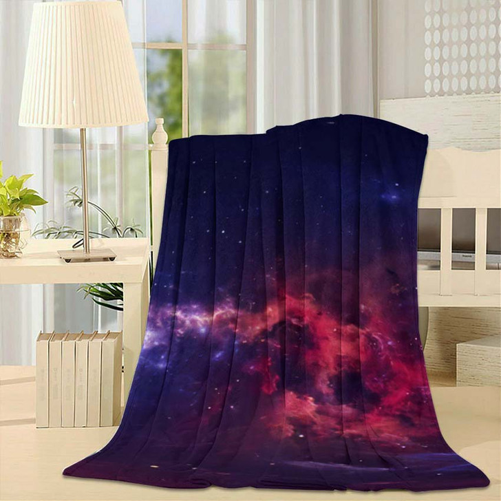 360 Degree Space Nebula Panorama Equirectangular 7 - Galaxy Sky and Space Throw Blanket