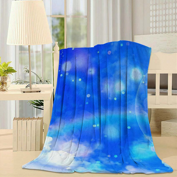 3D Illustration Fantastic Sky - Galaxy Sky and Space Throw Blanket