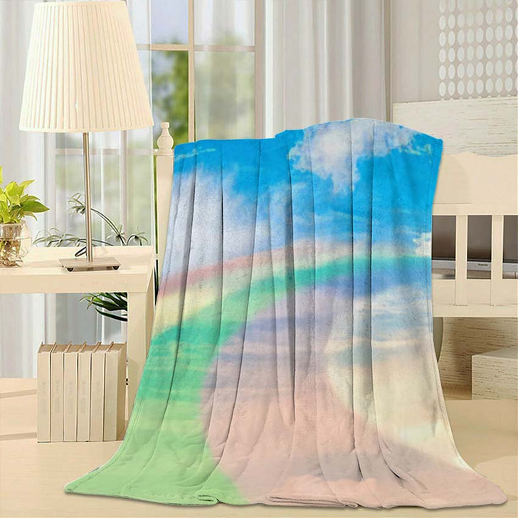 3D Illustration Fantastic Sky 1 - Galaxy Sky and Space Throw Blanket