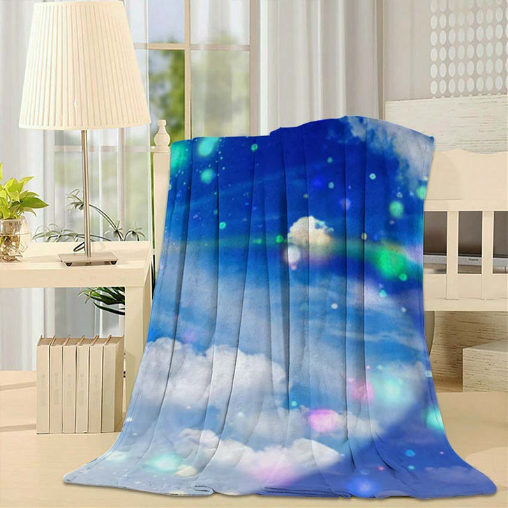 3D Illustration Fantastic Sky 3 - Galaxy Sky and Space Throw Blanket
