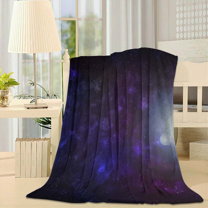 3D Illustration Planets Galaxy Science Fiction 5 - Galaxy Sky and Space Throw Blanket
