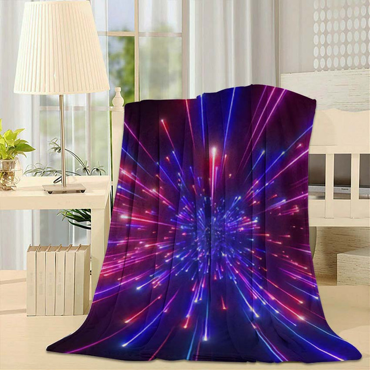 3D Render Big Bang Galaxy Expanding - Galaxy Sky and Space Throw Blanket