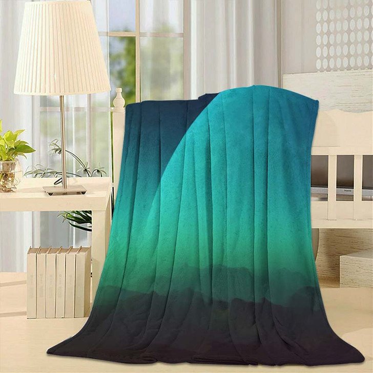 3D Rendered Space Art Alien Planet - Galaxy Sky and Space Throw Blanket