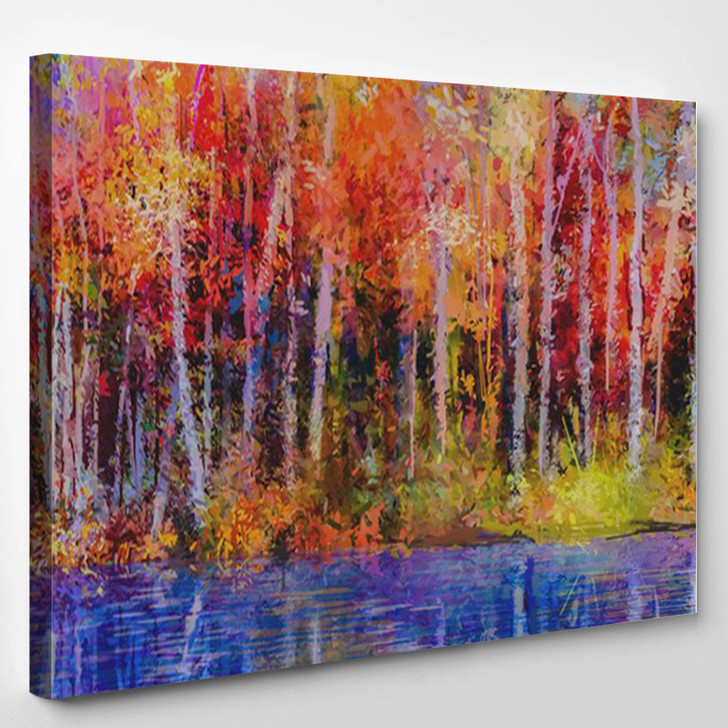 Oil Painting - Abstrast Canvas Art Print