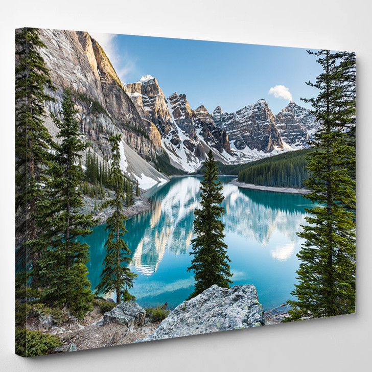 Panorama In The Banff Canada - Nature Canvas Art Print