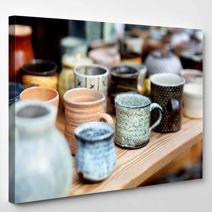 Ceramic Dishes Tableware Jugs Sold On - Festival Canvas Art Print