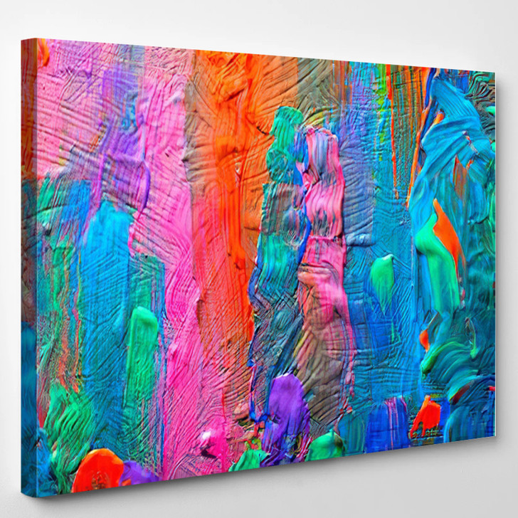 Abstract Art Background Hand - Painted Background SELF MADE - Abstract Canvas Art Print
