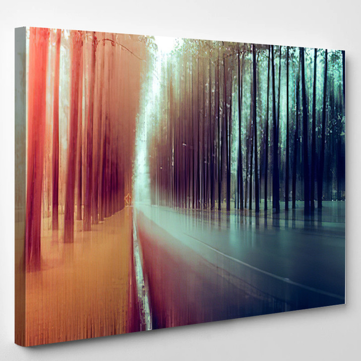 Abstract Forest - Abstract Canvas Art Print