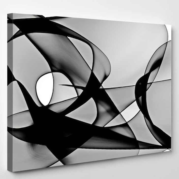 Abstract Generated Black And White Pattern Background - Abstract Canvas Art Print