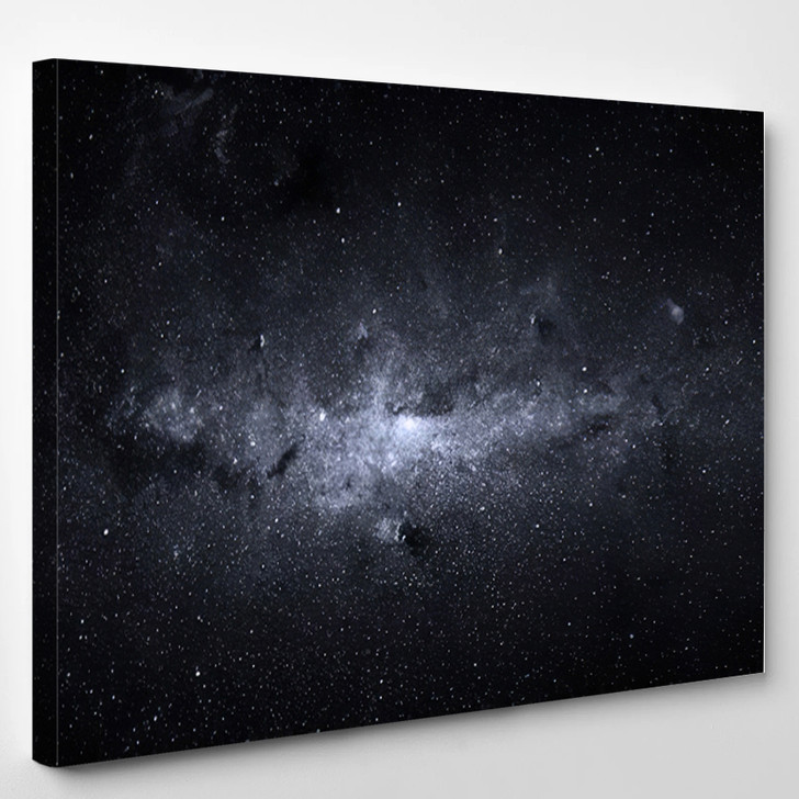 Beautiful Night Sky Elements Of This Image Furnished By NASA - Sky and Space Canvas Art Print
