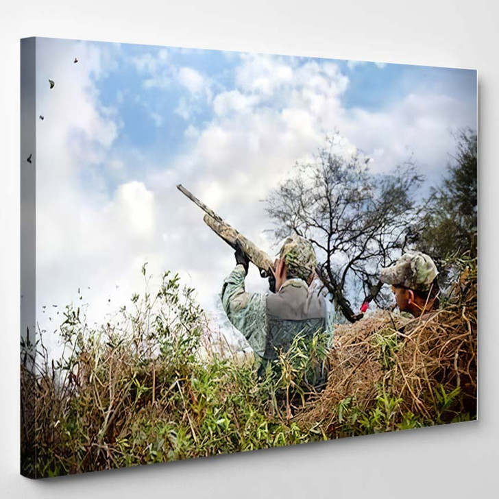 Father Sun Hunting - Hunting and Fishing Canvas Art Print