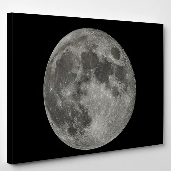 Full Moon At Night - Sky and Space Canvas Art Print