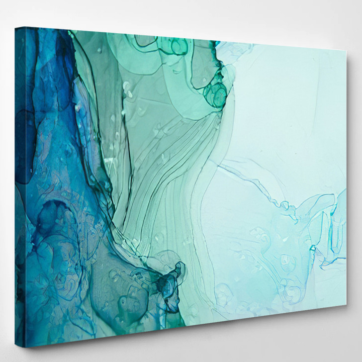 Green And Blue Abstract - Abstract Canvas Art Print