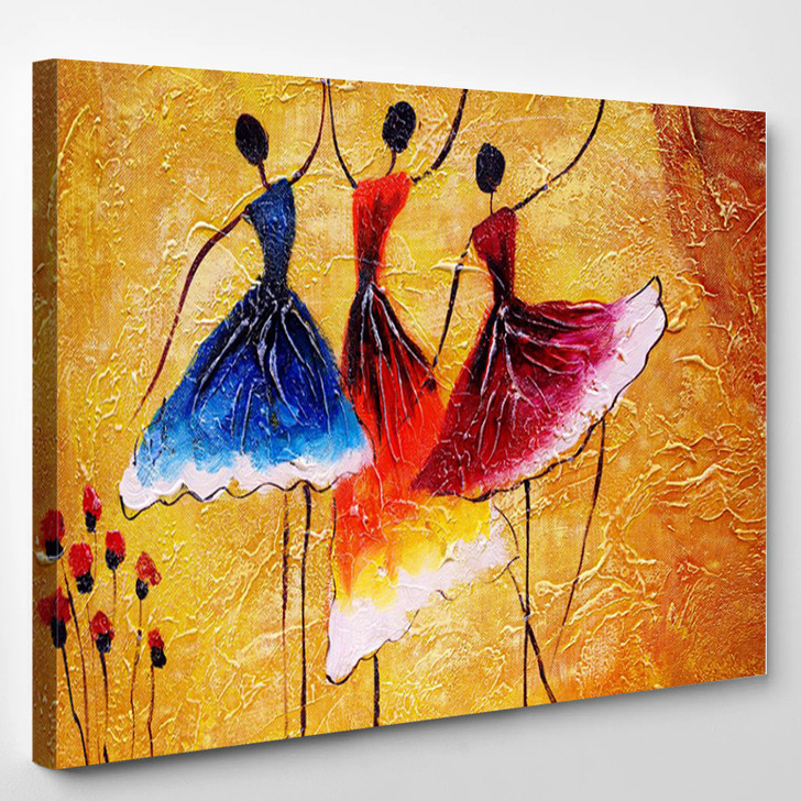 Oil Painting - Spanish Dance - Abstract Canvas Art Print