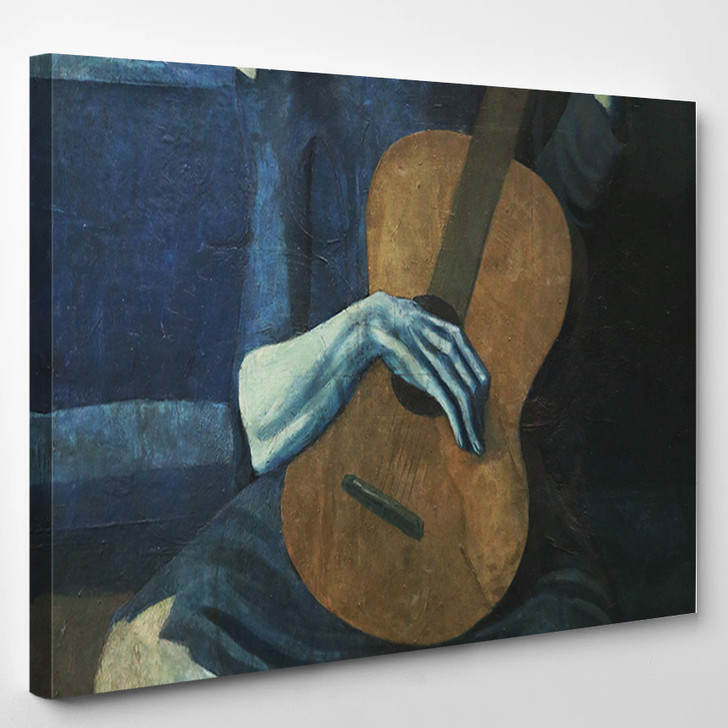 Pablo Picasso The Old Guitarist - Abstract Canvas Art Print