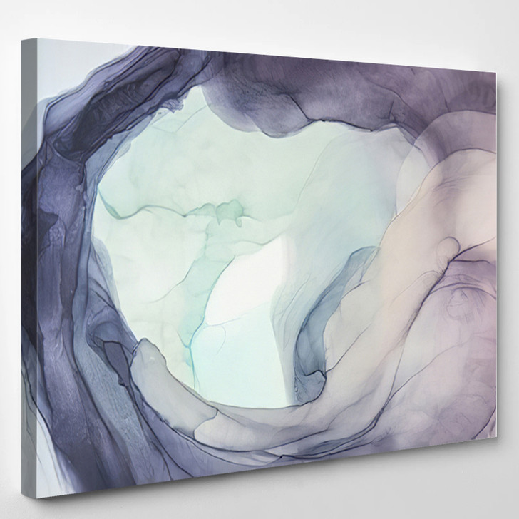 Purple And Light Green Abstract - Abstract Canvas Art Print