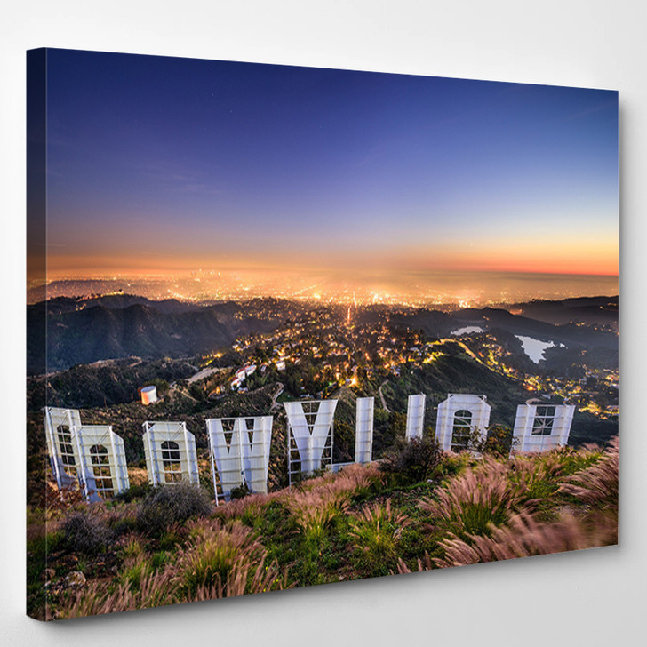 The Hollywood Sign LOS ANGELES CALIFORNIA - Landscape Canvas Art Print