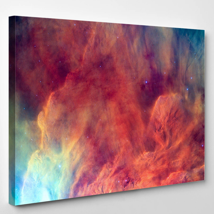 Waves Breaking In The Stellar Lagoon Nebula Or Emission Nebula Messier - Abstract Canvas Art Print