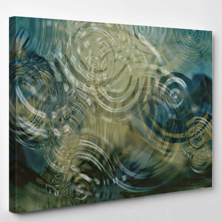 A Beautiful Close Up Of Ripples On A Pond - Abstract Canvas Art Print
