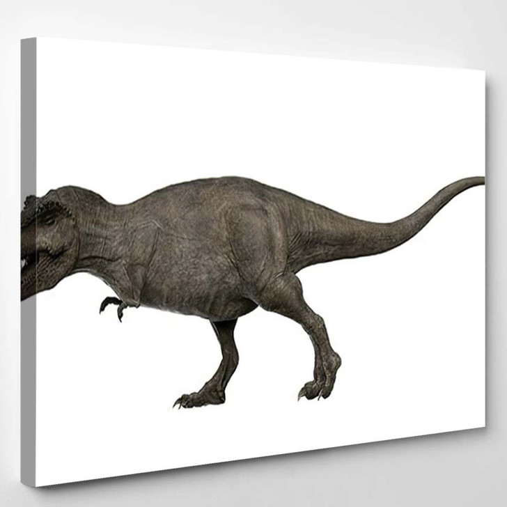 3D Rendered Trex Tyrannosaurus Rex 1 - Godzilla Animals Canvas Art Print
