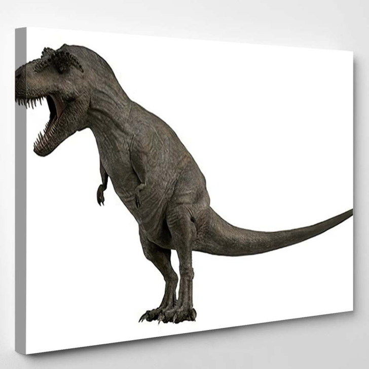 3D Rendered Trex Tyrannosaurus Rex 2 - Godzilla Animals Canvas Art Print