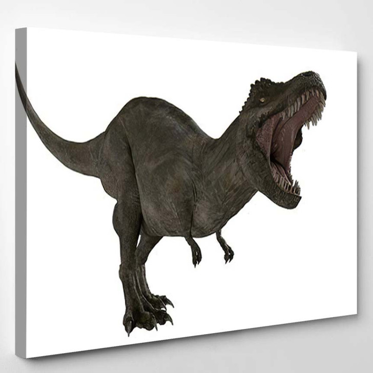 3D Rendered Trex Tyrannosaurus Rex 3 - Godzilla Animals Canvas Art Print