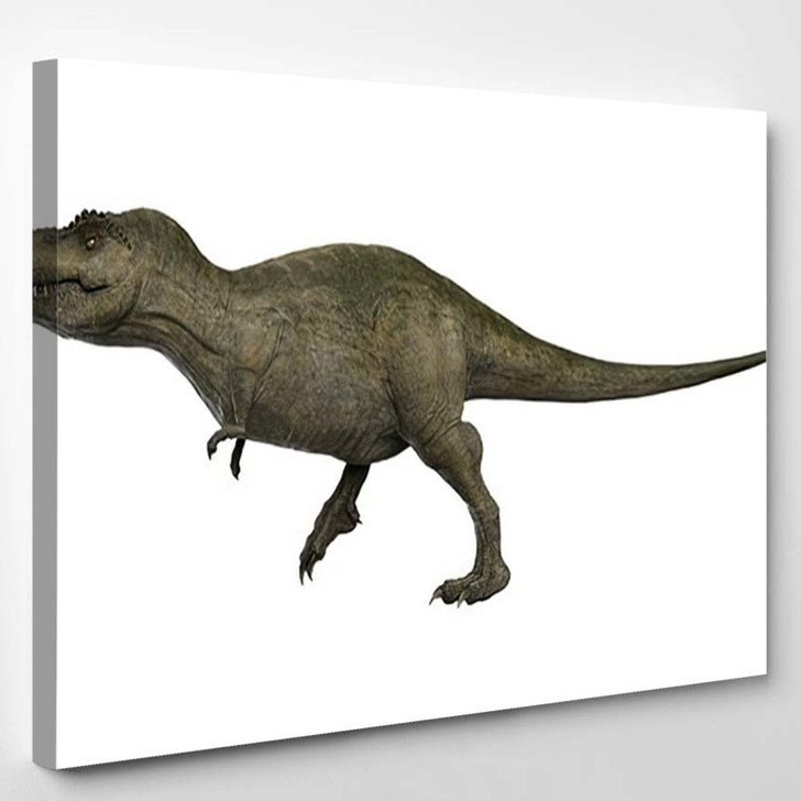 3D Rendered Trex Tyrannosaurus Rex 5 - Godzilla Animals Canvas Art Print