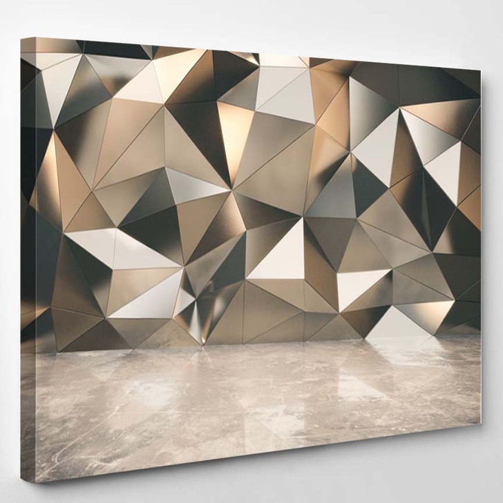 Abstact Exterior With Concrete Floor - Abstract Canvas Art Print