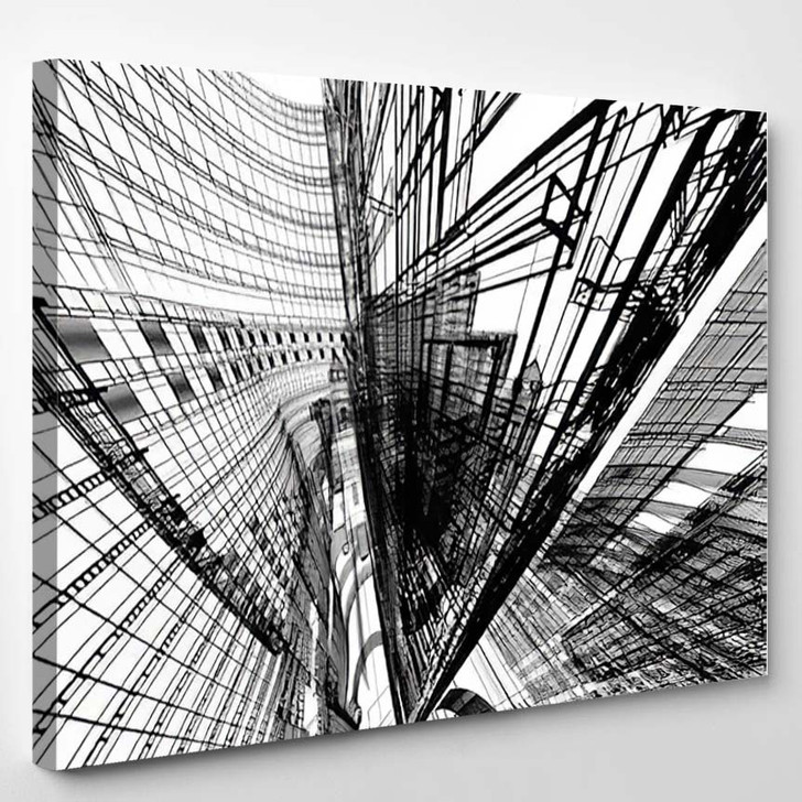 Abstract Architecture 2 - Abstract Canvas Art Print