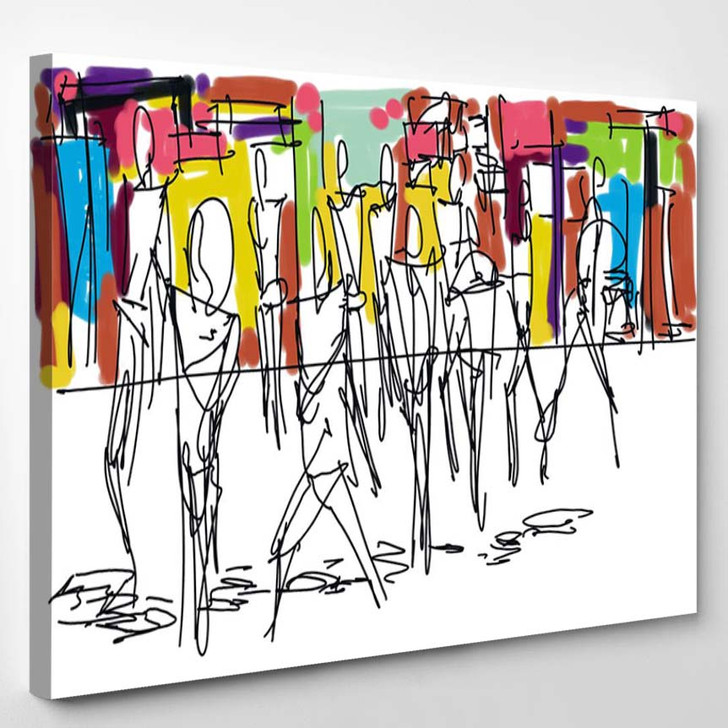 Abstract Digital Painting - Abstract Canvas Art Print
