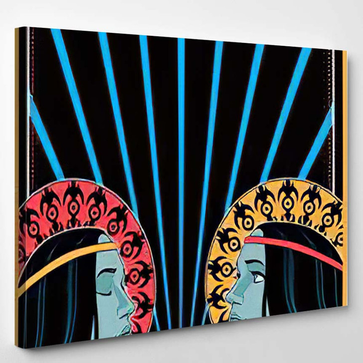1960S 1970S Music Poster Cover Stylization - Hippies Canvas Art Print