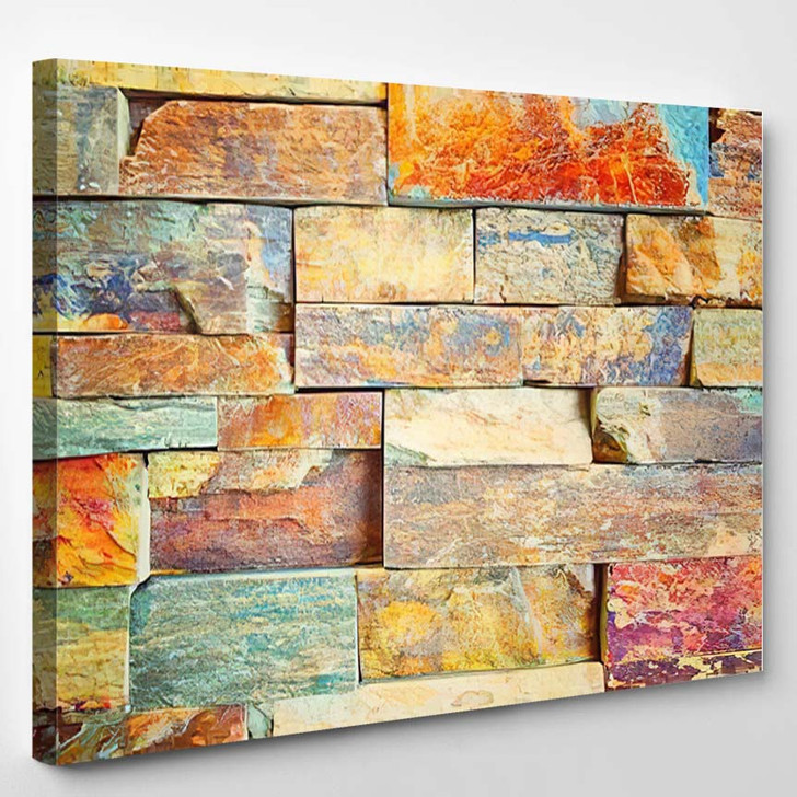 Color Marble Abstract - Abstract Canvas Art Print