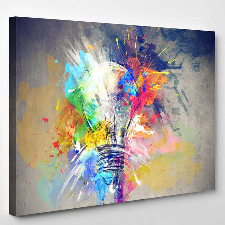 Colours Of Life 2 - Abstract Canvas Art Print