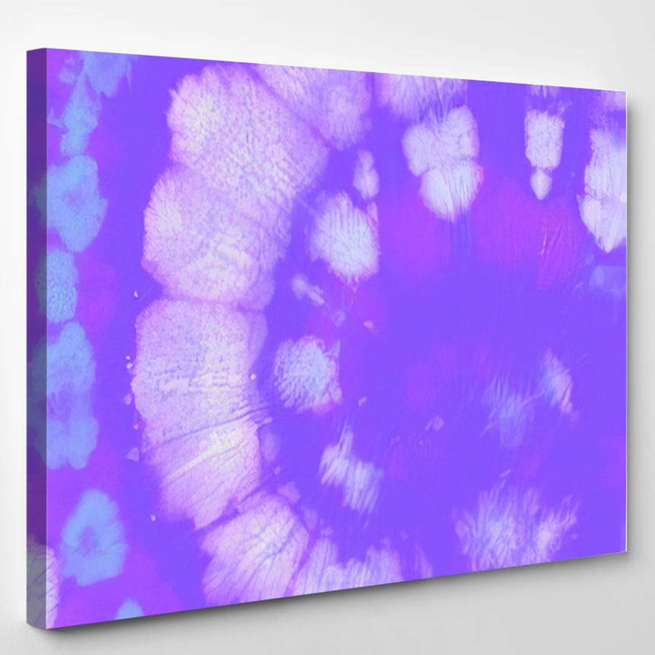 Psychedelic Multi Background Spiral Light Paint - Hippies Canvas Art Print