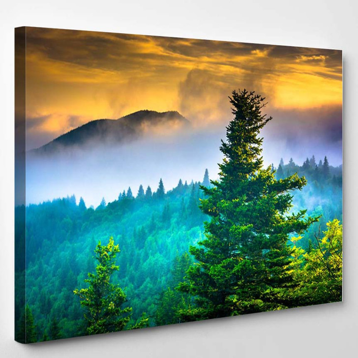 Devil S Courthouse Near The Blue Ridge Parkway In North Carolina - Nature Canvas Art Print