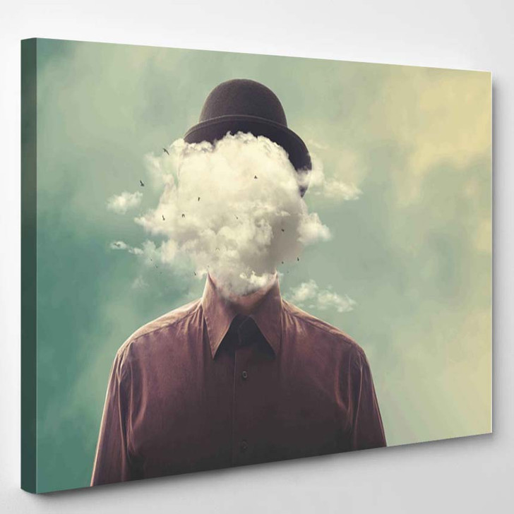 Head In The Clouds - Abstract Canvas Art Print