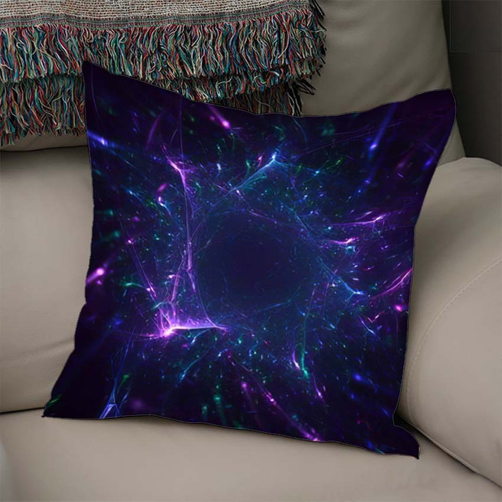 3D Rendering Abstract Fractal Light Background 4 - Fantasy Throw Pillow