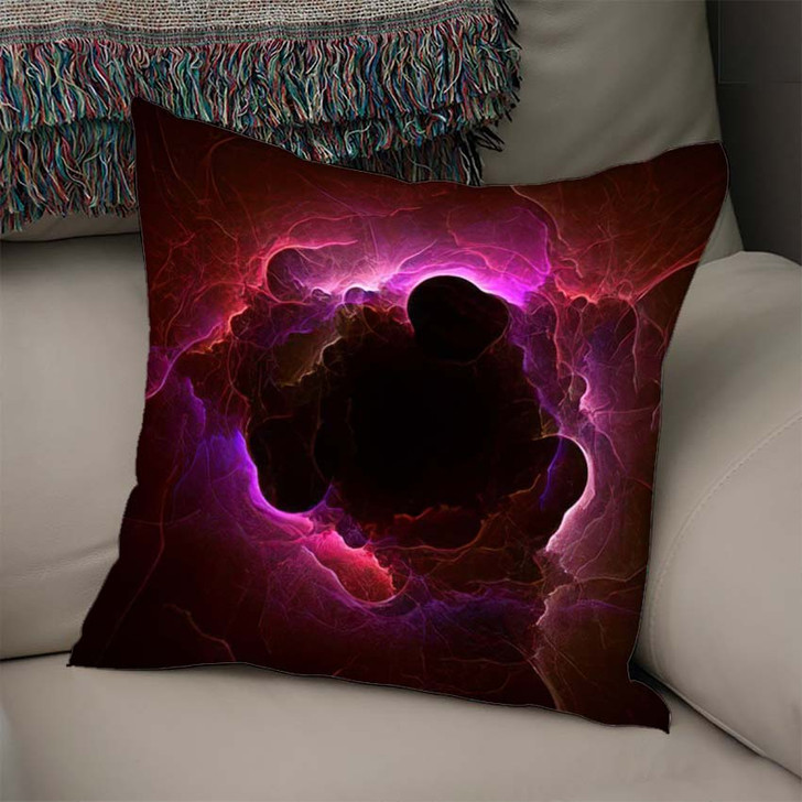 3D Rendering Abstract Fractal Light Background 2 1 - Fantasy Throw Pillow