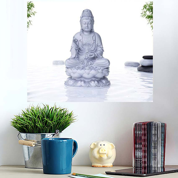 3D Rendered Spa Illustration Buddha Statue - Buddha Religion Poster Art
