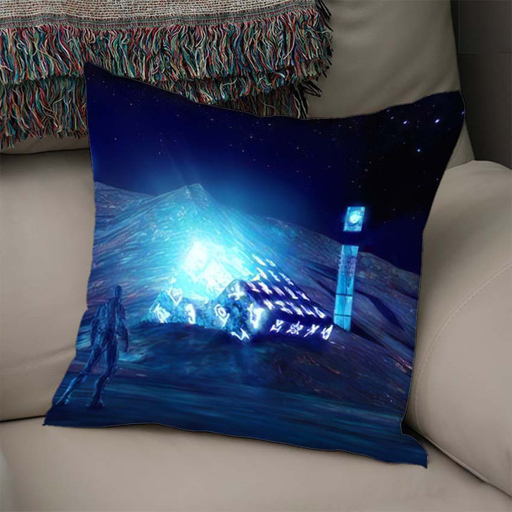3D Illustration Fantastic World Ancient Artifacts - Fantastic Throw Pillow