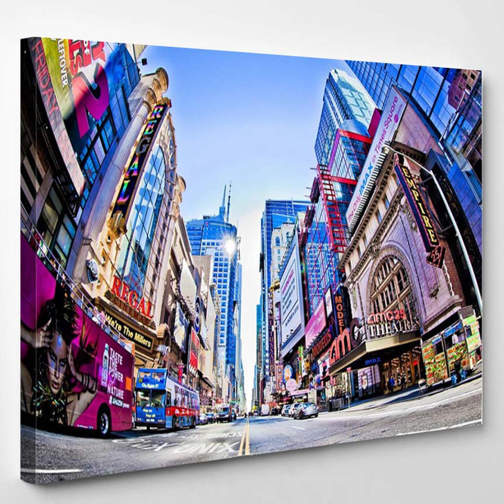 New York Times Square And 42Nd Stree - Landscape Canvas Art Print