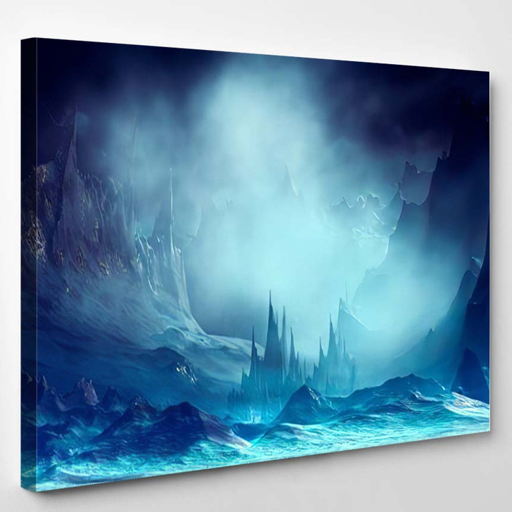 3D Illustration Landscape Fantasy Concept Mountains - Fantasy Canvas Art Print
