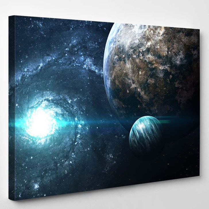 Planets Over The Nebulae In Space This Image Elements Furnished By Nasa - - Sky And Space Canvas Art Print