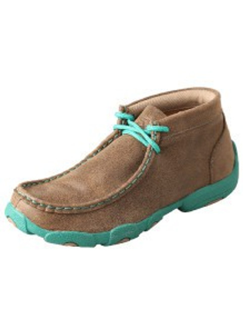 YOUTH DRIVING MOCCASINS - BOMBER/TURQUOISE YDM0017