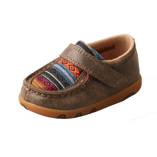 INFANT DRIVING MOCCASINS - BOMBER/MULTI SERAPE ICA0004